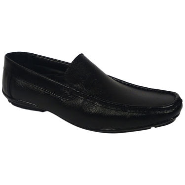 Synthetic Leather Black Formal Shoes -oy01
