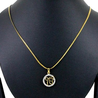 Spargz Round Shape Pendant With CZ Stone_Aip083