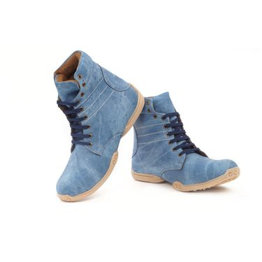 Bacca Bucci Canvas Blue Boots -Bbma2065B