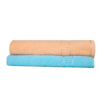 Banarsi Das Set of 2 Pure Cotton Bath Towels-bdt007