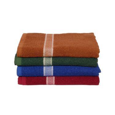 Banarsi Das Pack of 4 100% Cotton Bath Towels-bdt009