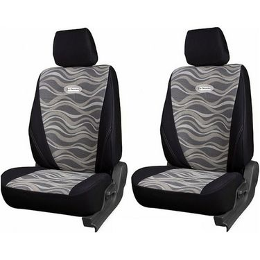 Branded Printed Car Seat Cover for Ford Figo - Black