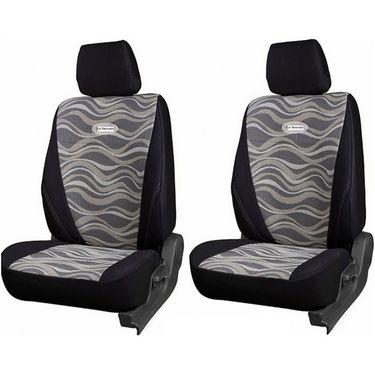 Branded Printed Car Seat Cover for Honda Brio - Black