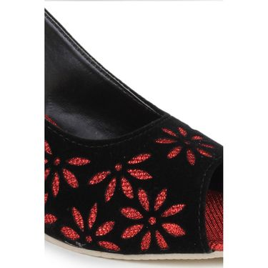 Do Bhai Suede Heels classic-Red