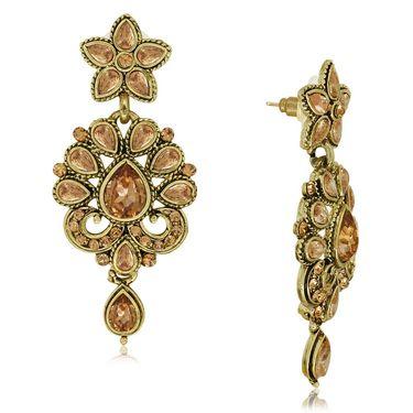 Spargz Royal Necklace Set With Gold Finish Ring & Enamel Kada_Cb415
