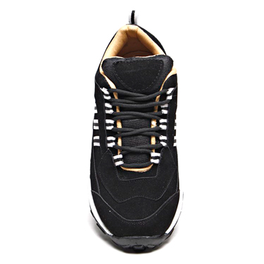 Foot n Style Suede leather Casual Shoes  FS203 - Black