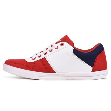 Foot n Style Red & White Sneaker Shoes -Fs3137