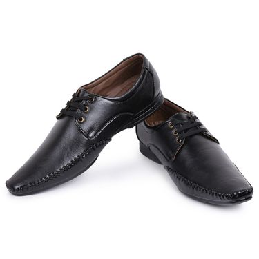 Foot n Style Black Formal Shoes -Fs3181