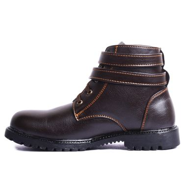 Foot n Style Leather Brown Boots -Fs4004