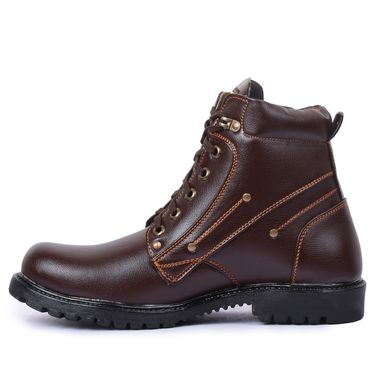 Foot n Style Leather Brown Boots -Fs4018