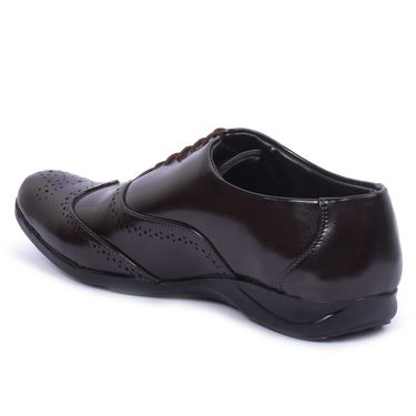 Foot n Style Patent Leather Brown Formal Shoes -Fs7007