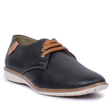 Foot n Style Faux Leather Black Casual Shoes -Fs8000