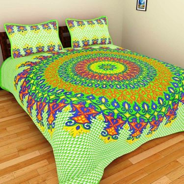 Set of 10 Double BedSheets With 20 Pillow Covers-grj-db-10-4