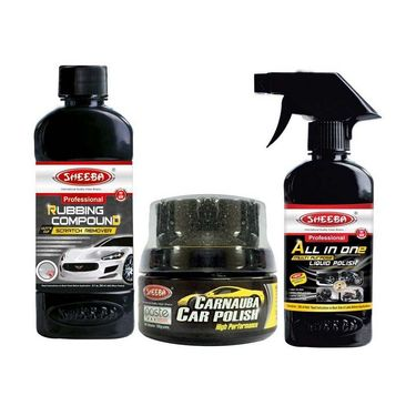 Sheeba All In One Car Polish Interior And Exterior Care Combo