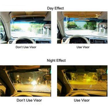 HD Car Anti-Glare Dazzling Goggle Day & Night Vision Driving Mirror Sun Visors
