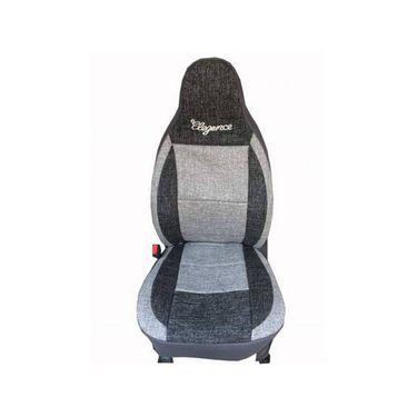 Car Seat Cover For Maruti Omni-8-Black & Grey - CAR_11026