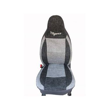 Car Seat Cover For Fiat Linea-Black & Grey - CAR_11013