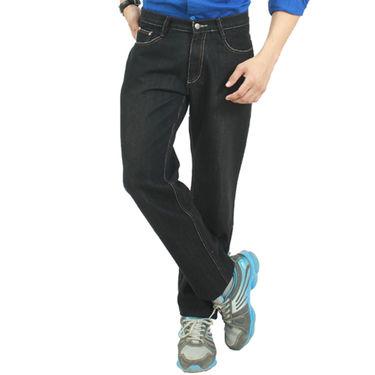 Uber Urban Cotton Jeans_ub09 - Black