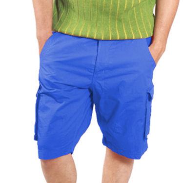Uber Urban Cotton Shorts_ub12 - Blue