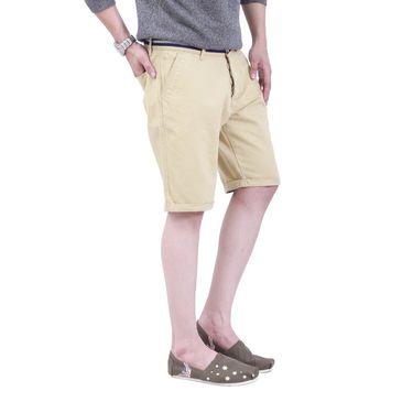 Uber Urban Cotton Shorts_ub15 - Beige
