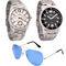 Combo of Dezine 2 Analog Watches + 1 Aviator Sunglasses_DZ-CMB106