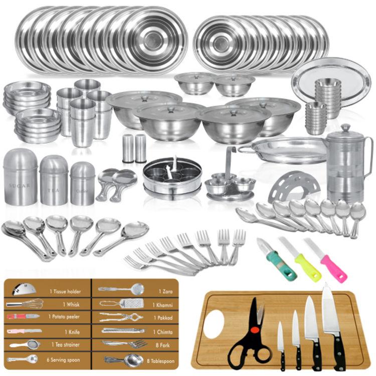 Buy shree dhanlaxmi offer 111 pcs kitchenware set online for Kitchen set naaptol