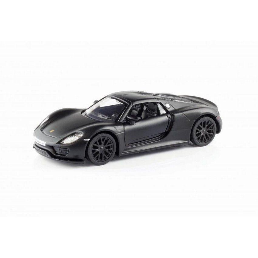 buy rmz porsche 918 spyder matte black pullback diecast. Black Bedroom Furniture Sets. Home Design Ideas