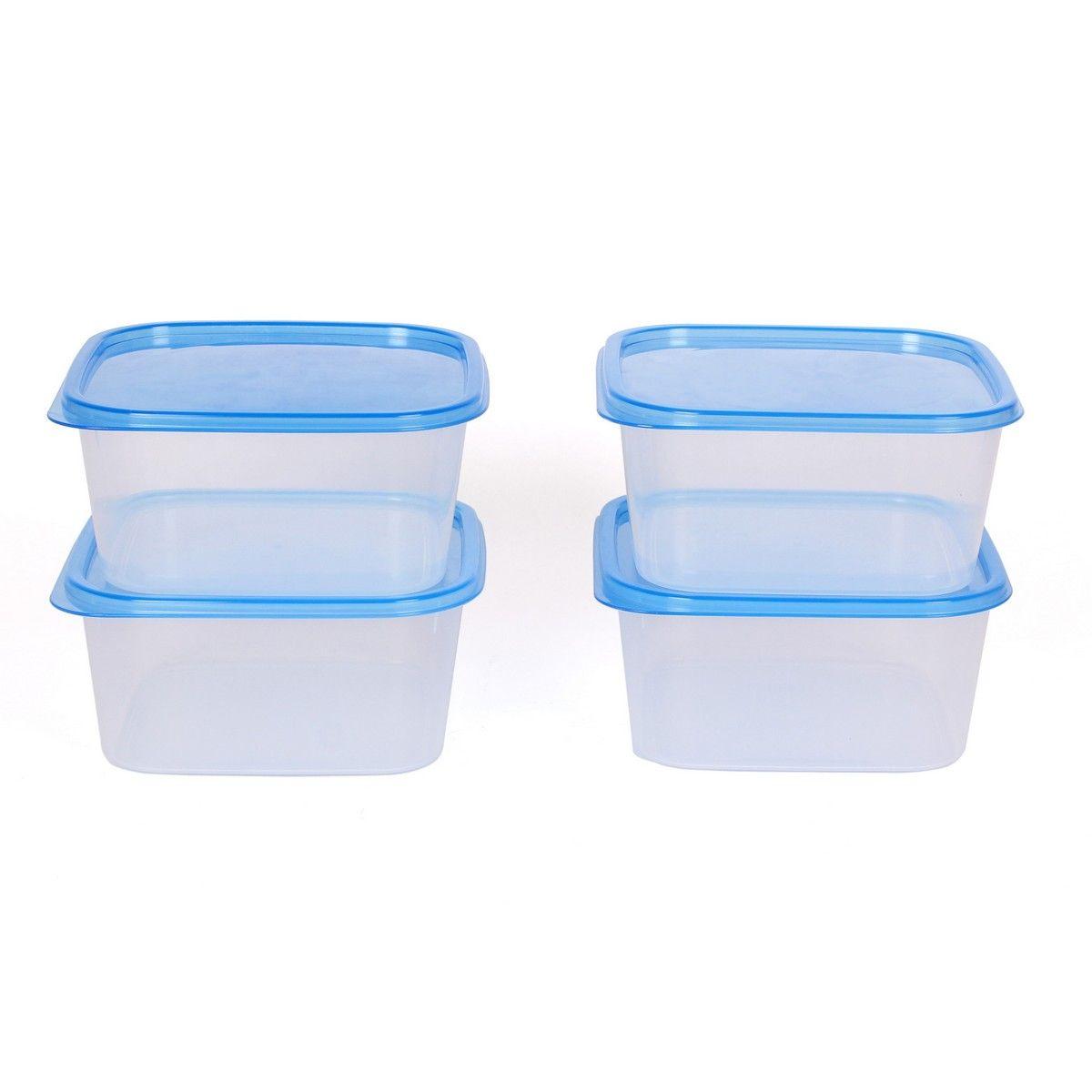 Buy gluman 4 pcs set of plastic kitchen storage container for Plastic kitchen set