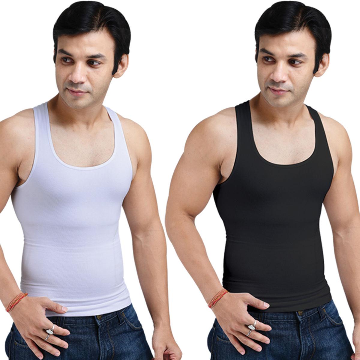 Buy Get In Shape Set of 2 Instant Slimming Vest for Men ...