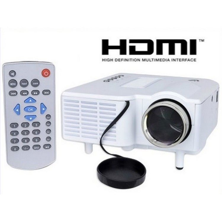 Buy branded unic uc28 portable mini led projector 3rd for Mini projector price