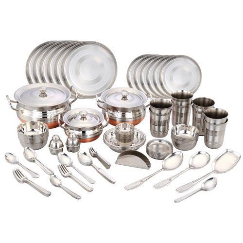 Buy klassic vimal 101 pcs stainless steel dinner set for Kitchen set naaptol