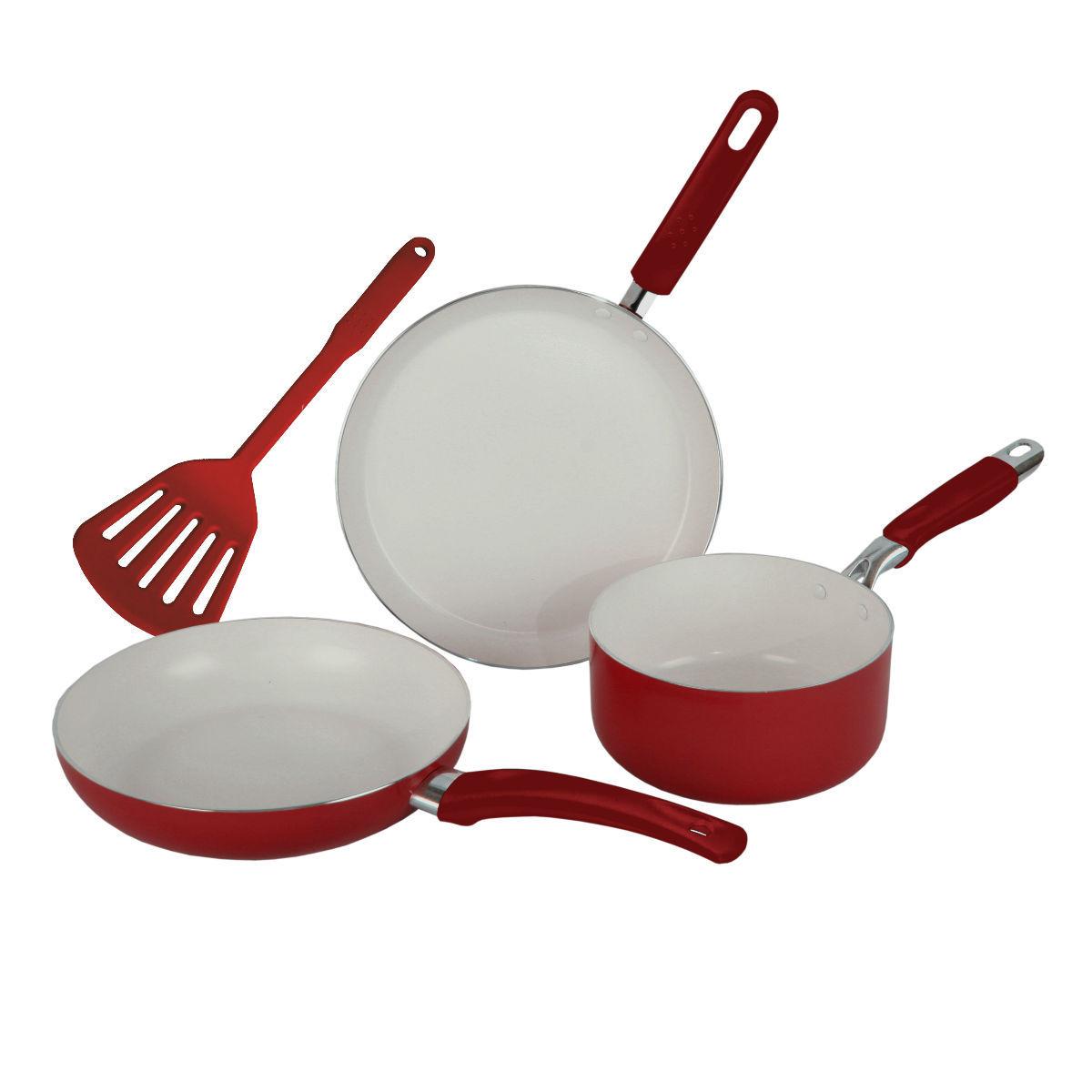 Wama 3pcs non stick ceramic set tawa fry pan milk pan Best non stick milk pan