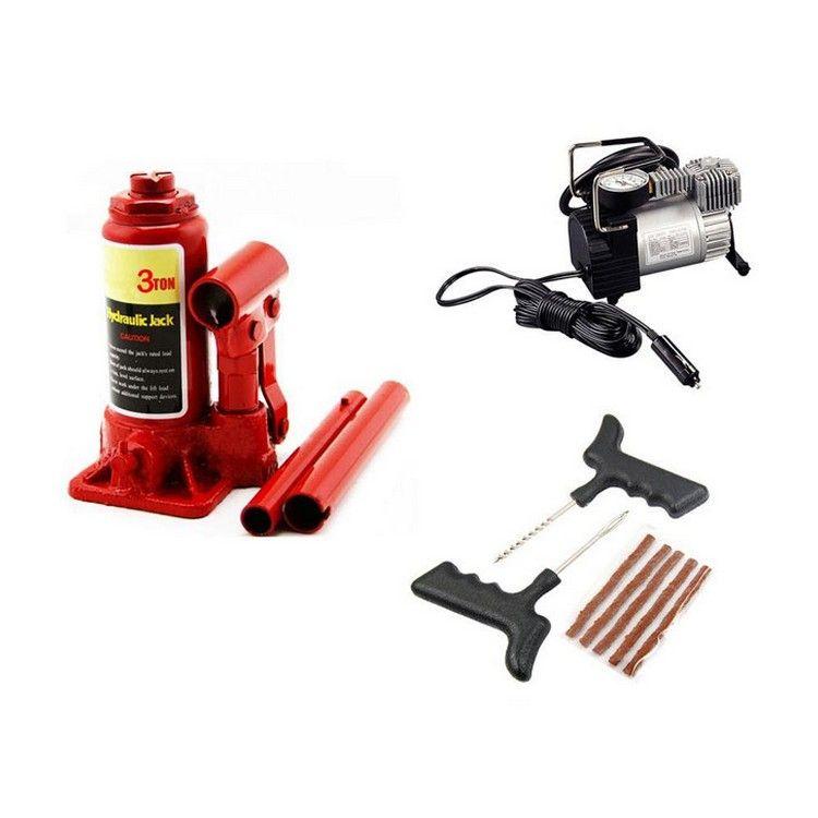 Car Puncture Repair Kit With Compressor