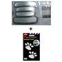 Combo Of Door Guard(White/Silver) + Foot Mark Sticker