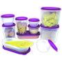 Princeware 10 Pcs Modular Container Set-Purple