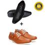 Combo of Bacca bucci Formal Shoes Occasion + Boat Shoes