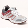 Columbus PU Sports Shoes - White & Red-2386