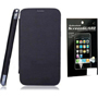 Combo of Camphor Flip Cover (Black) + Screen Guard for Micromax A36