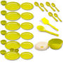 Set of 30 Cutting Edge Microwavable Dinner Round Set - Green