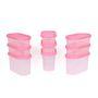 Gluman 9 Pcs Set of Modular Kitchen Storage Container Box - Mod Pink C7