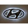 Hyundai Emblem Logo Badge Car Light - White