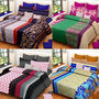 Set of 4 IWS Cotton Printed Double Bedsheet with 8 Pillow Covers-CB1431