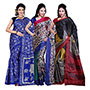 Pack of 3 Ishin Printed Art Silk Saree-Combo-165