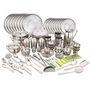 Klassic Vimal 163 Pcs Stainless Steel Dinner Set - Silver