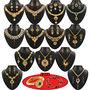 Vaibhavi 1 Gram Gold Plated 13 Jewellery Set