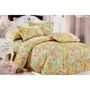Valtellina Printed Double Bed Sheet With 2 Pillow Cover-Multicolor- LID-009