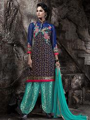 Viva N Diva Heavy Bhagalpuri Embroidered Semi Stitched Suit 10030-Shriyaa