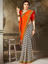 Viva N Diva Printed Bhagalpuri Silk Saree -sa09