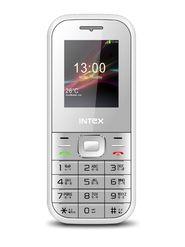 Intex A-One+ Dual Sim Mobile Phone - White & Blue