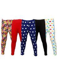 Pack of 5 Little Star Girl's Multicolor Leggings - PO5L_116